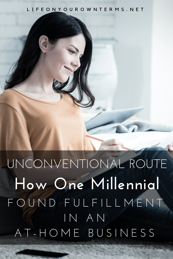 Millennial in home-based business